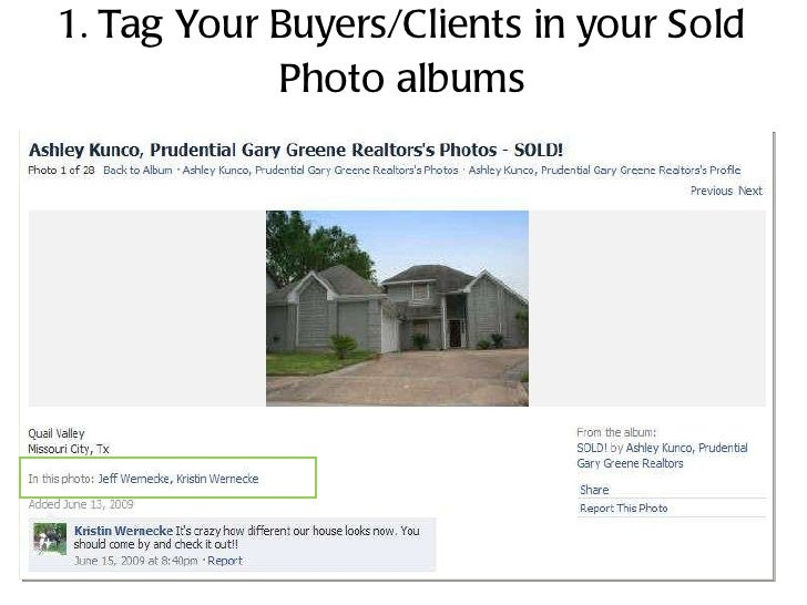 1. Tag Your Buyers/Clients in your Sold Photo albums