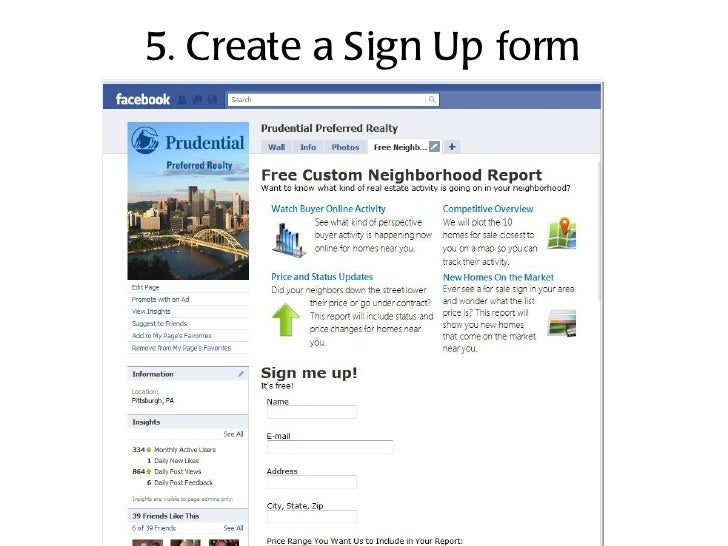 5. Create a Sign Up form