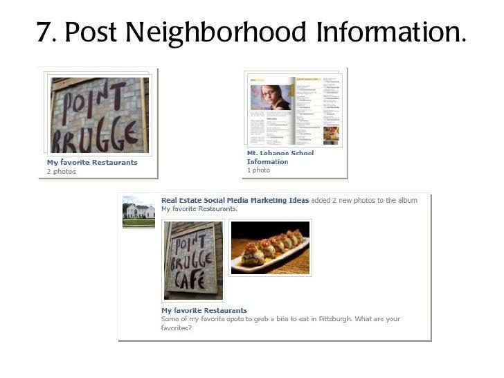 7. Post Neighborhood Information.