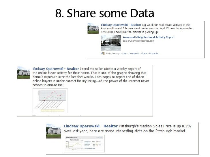 8. Share some Data