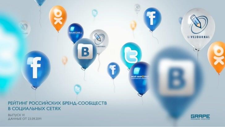 Предисловие    Представляем новый выпуск Рейтинга российских бренд-сообществ в соц.сетях!    На этот раз мы не вводили нов...