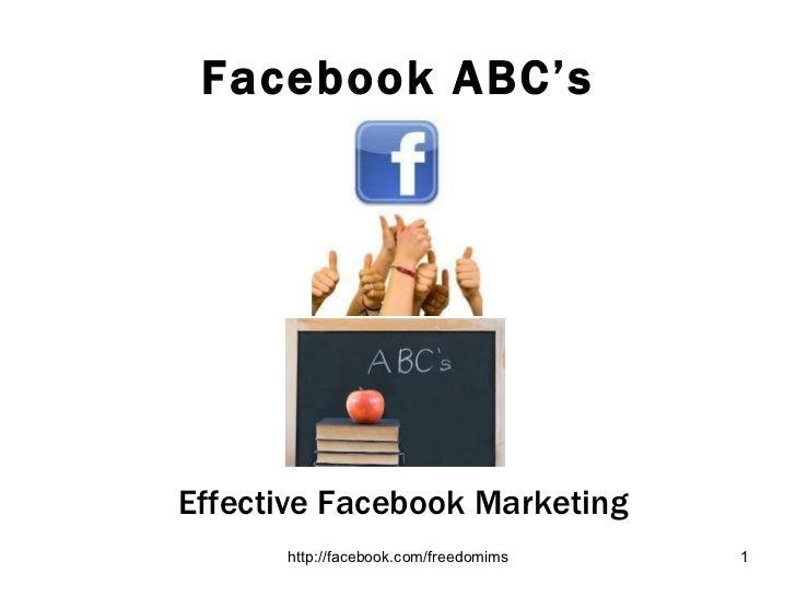 Facebook ABC's Effective Facebook Marketing
