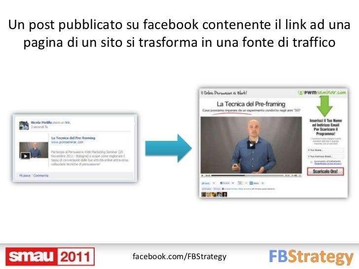 Un post pubblicato su facebook contenente il link ad una  pagina di un sito si trasforma in una fonte di traffico         ...