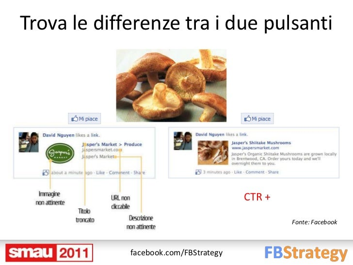 Trova le differenze tra i due pulsanti                                       CTR +                                        ...