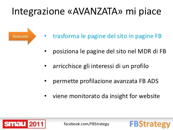 Integrazione «AVANZATA» mi piaceAvanzata   • trasforma le pagine del sito in pagine FB           • posiziona le pagine del...