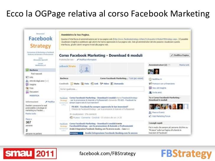 Ecco la OGPage relativa al corso Facebook Marketing                  facebook.com/FBStrategy