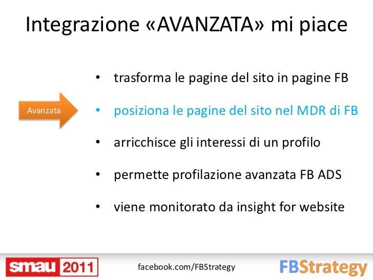 Integrazione «AVANZATA» mi piace           • trasforma le pagine del sito in pagine FBAvanzata   • posiziona le pagine del...