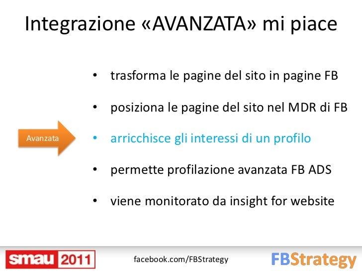 Integrazione «AVANZATA» mi piace           • trasforma le pagine del sito in pagine FB           • posiziona le pagine del...