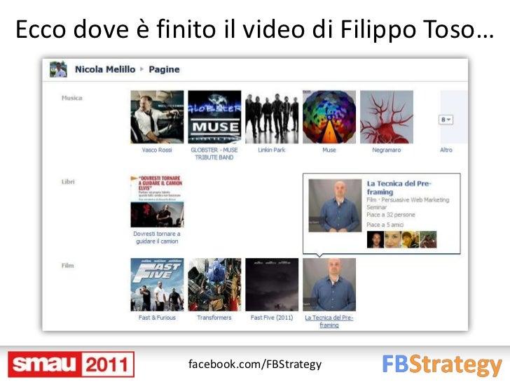 Ecco dove è finito il video di Filippo Toso…               facebook.com/FBStrategy