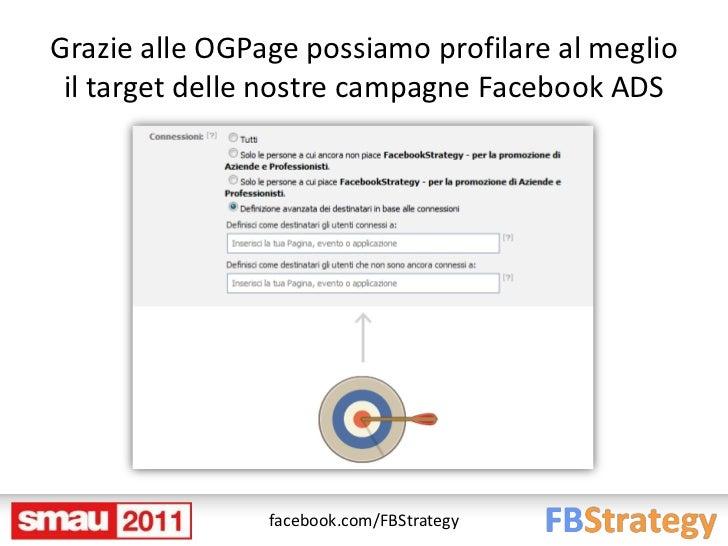 Grazie alle OGPage possiamo profilare al meglio il target delle nostre campagne Facebook ADS                facebook.com/F...