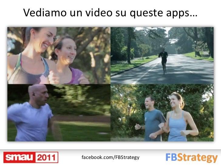 Vediamo un video su queste apps…          facebook.com/FBStrategy