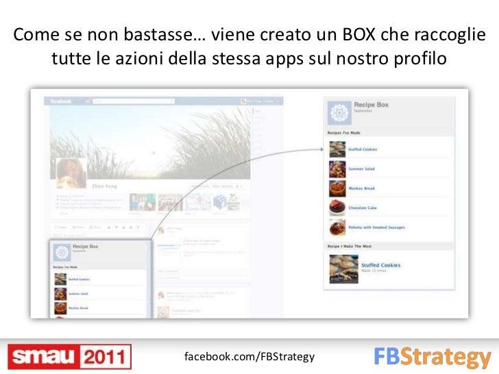 Come se non bastasse… viene creato un BOX che raccoglie   tutte le azioni della stessa apps sul nostro profilo            ...