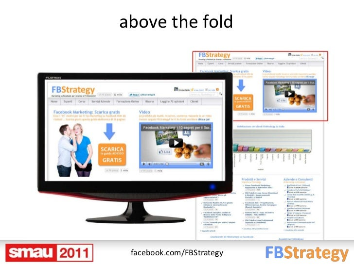 above the fold facebook.com/FBStrategy