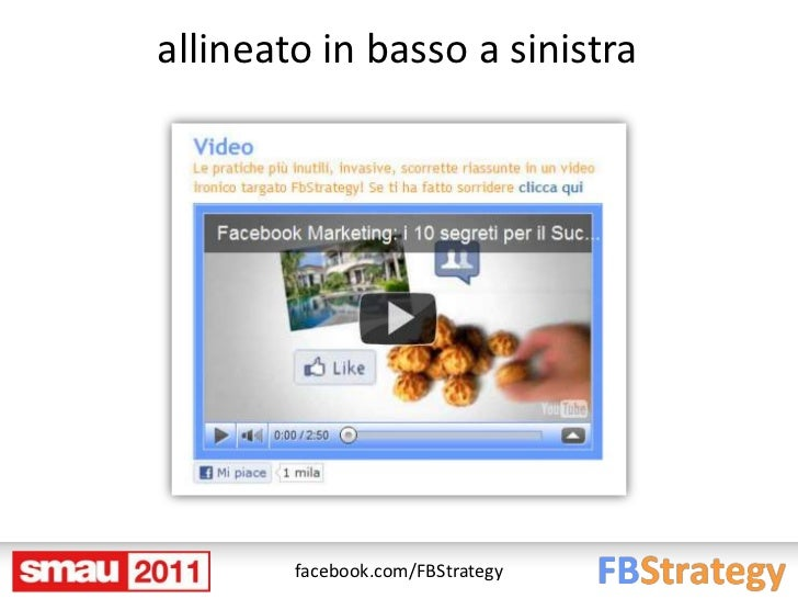 allineato in basso a sinistra        facebook.com/FBStrategy