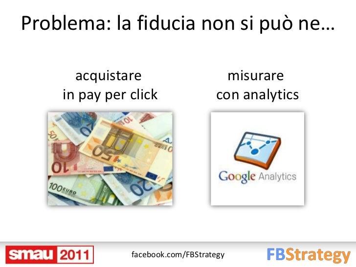 Problema: la fiducia non si può ne…      acquistare                     misurare    in pay per click               con ana...