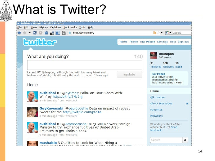What is Twitter?                        14