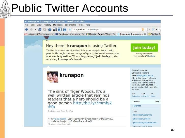 Public Twitter Accounts                               15