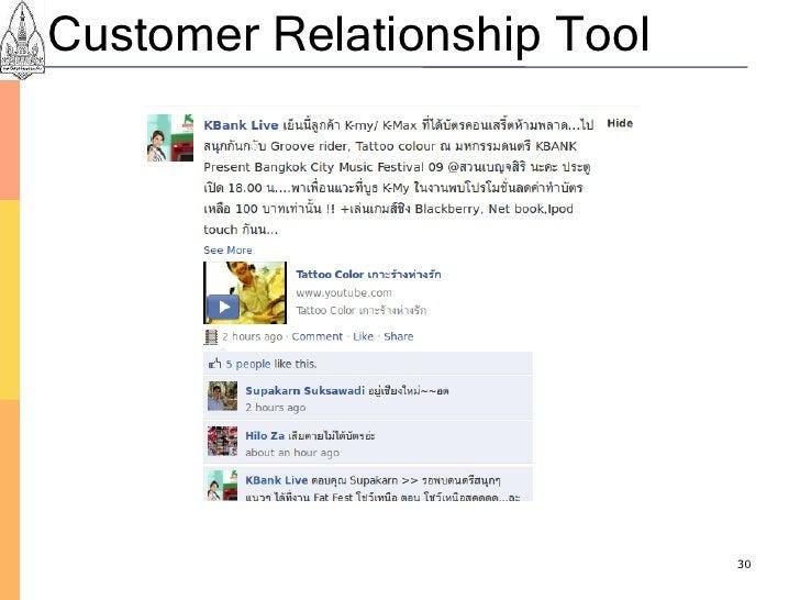 Customer Relationship Tool                                  30