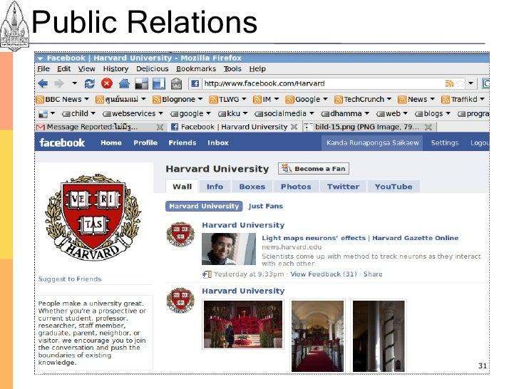 Public Relations                        31