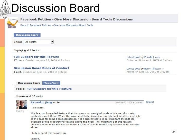 Discussion Board                        34
