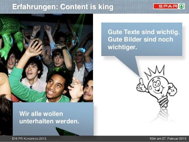 Erfahrungen: Content is king                          Gute Texte sind wichtig.                          Gute Bilder sind n...