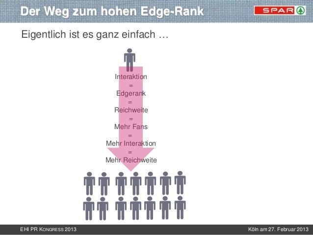 Der Weg zum hohen Edge-RankEigentlich ist es ganz einfach …                         Interaktion                           ...