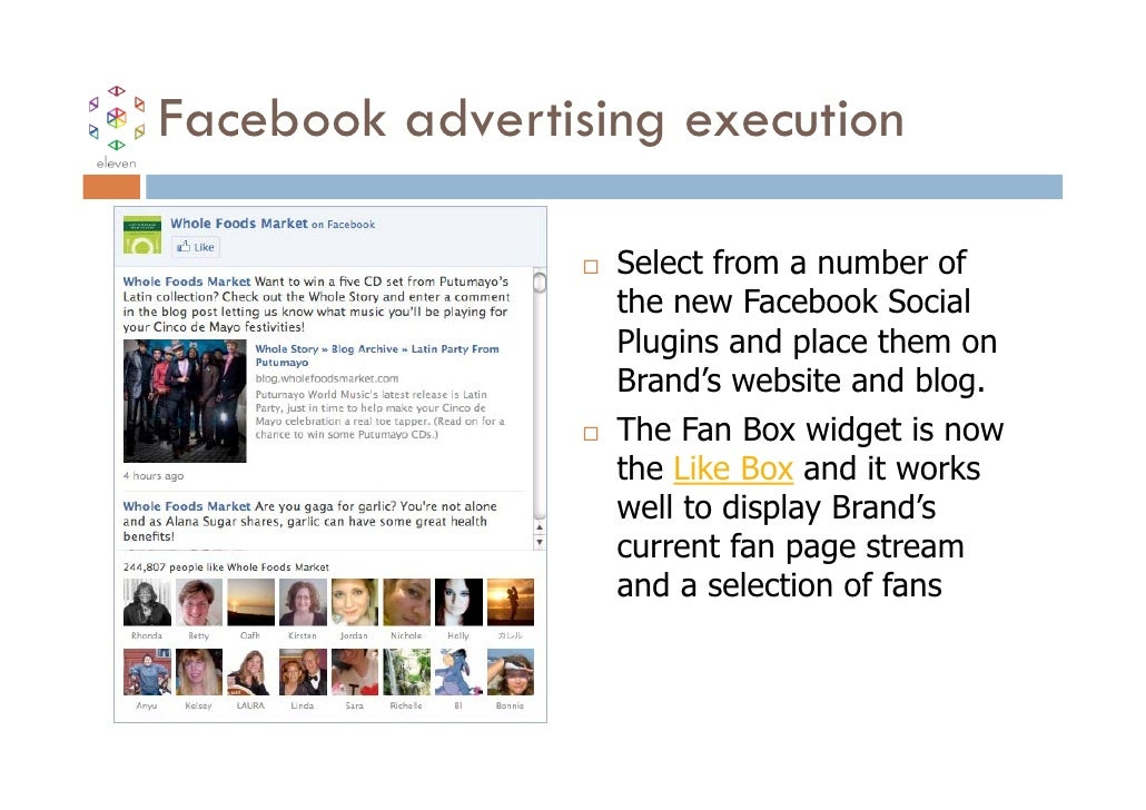Facebook advertising execution                  Select from a number of                  the new Facebook Social          ...