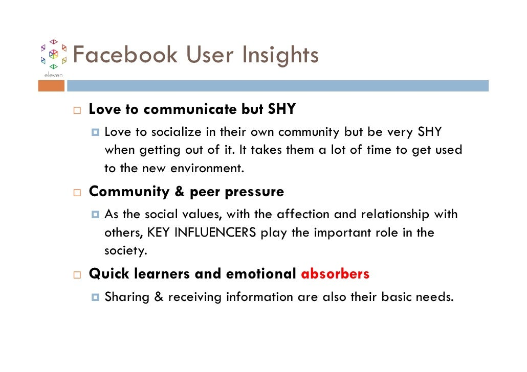 Facebook User Insights Love to communicate but SHY   Love to socialize in their own community but be very SHY   when getti...