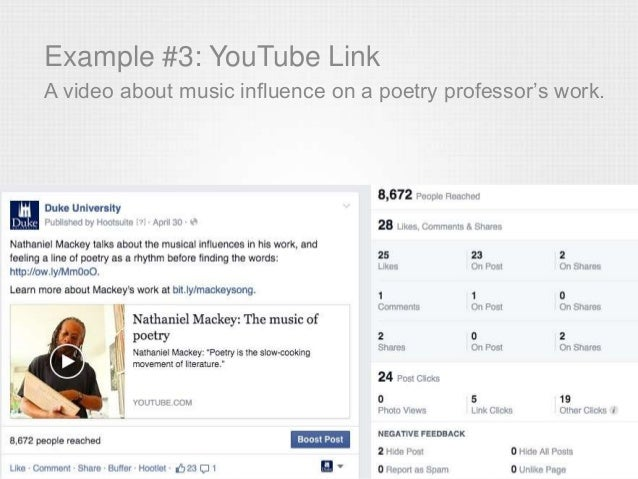 Example #3: YouTube Link A video about music influence on a poetry professor's work.