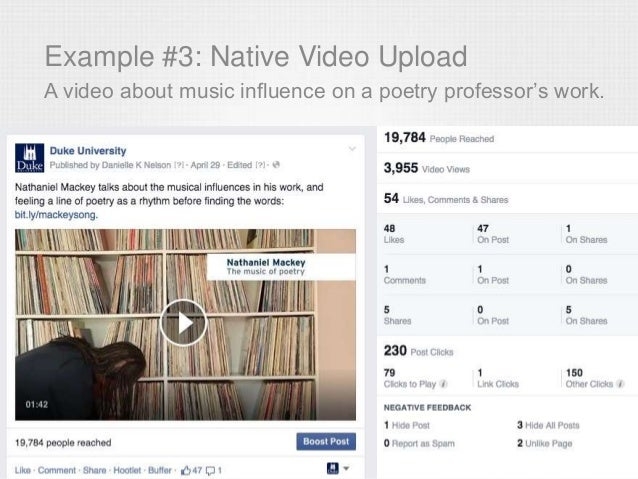 Example #3: Native Video Upload A video about music influence on a poetry professor's work.