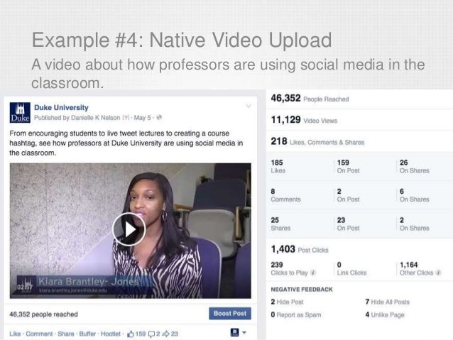 Example #4: Native Video Upload A video about how professors are using social media in the classroom.