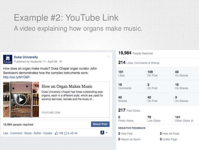 Example #2: YouTube Link A video explaining how organs make music.