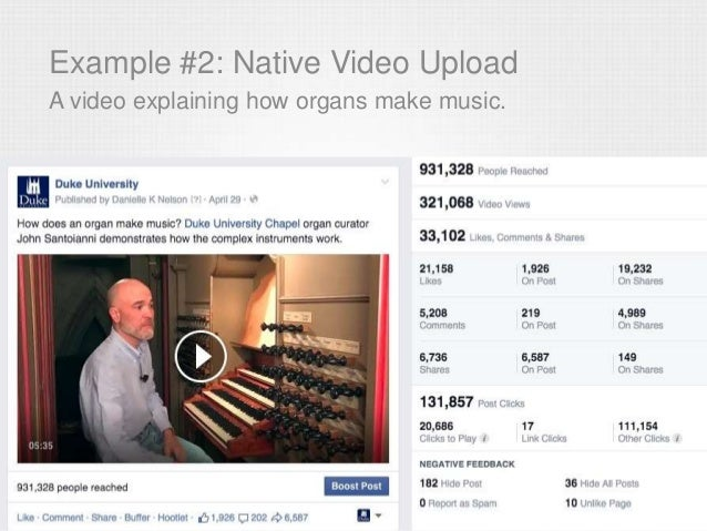 Example #2: Native Video Upload A video explaining how organs make music.