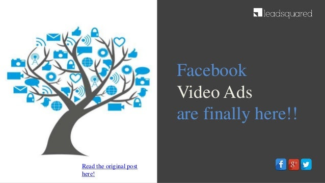 Facebook Video Ads are finally here!! Read the original post here!