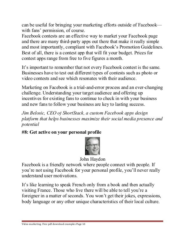 can be useful for bringing your marketing efforts outside of Facebook—  with fans' permission, of course.  Facebook contes...