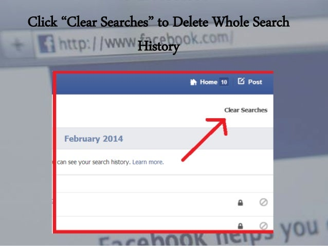 Facebook: View And Delete Search History