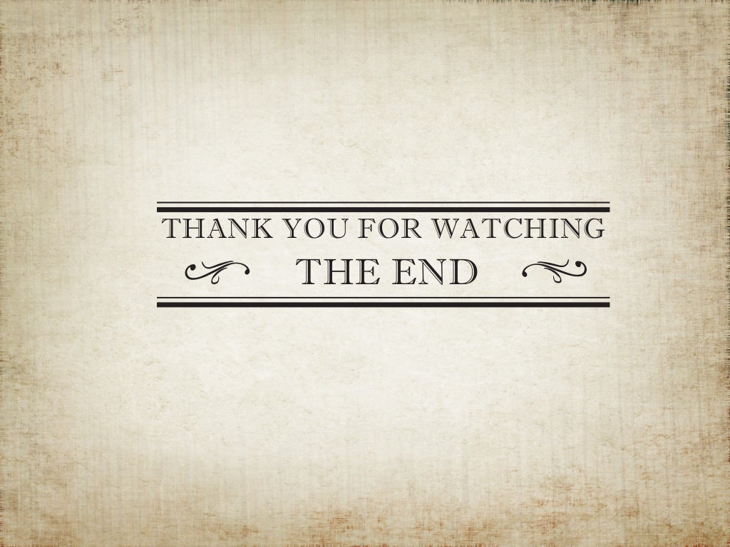 THANK YOU FOR WATCHING THE