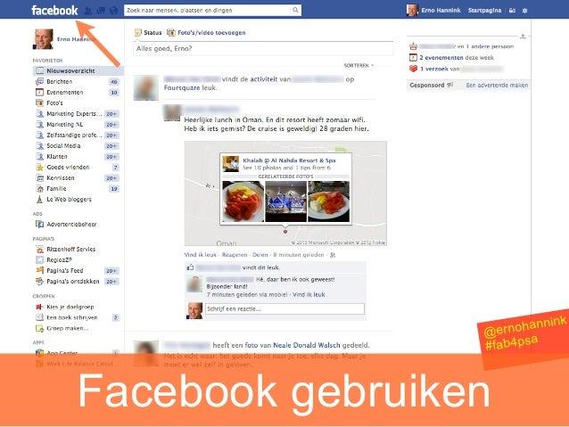 nink                 @ ernohan                         a                 #fab4psFacebook gebruiken