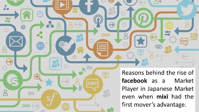 • Facebook required users to register with their real names. • This appealed to Japanese users in contrast to mixi which u...