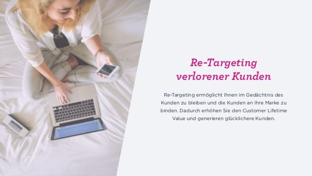 Re-targeting Die Anpassung des Kauferlebnisses des individuellen Käufers z. B. 1:1 Personalisierung. Re-targeting verloren...
