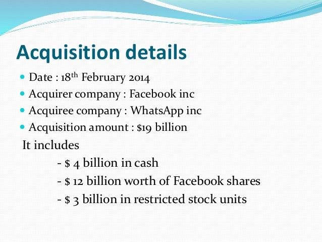 Facebook whatsapp acquisition Slide 2