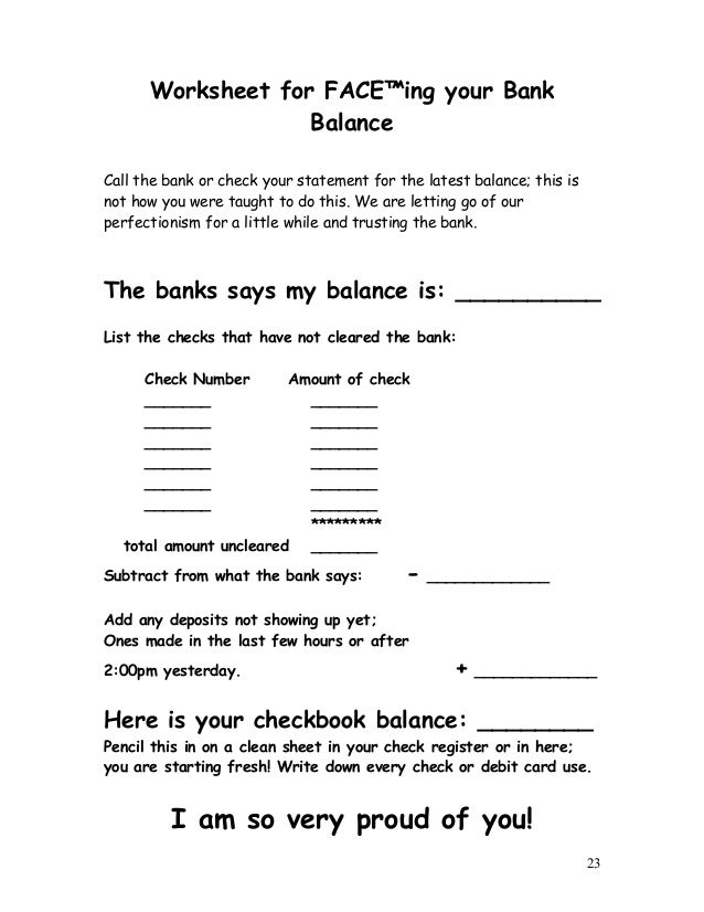 FACE Financial Awareness Continually Empowers Control Journal – Financial Peace Worksheets