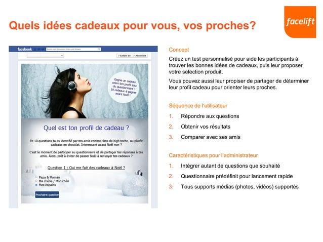 Quels idées cadeaux pour vous, vos proches? Concept Créez un test personnalisé pour aide les participants à trouver les bo...