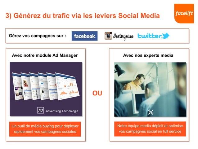 Avec nos experts mediaAvec notre module Ad Manager Un outil de média buying pour déployer rapidement vos campagnes sociale...