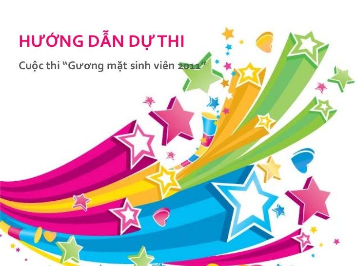 """Website tổchúccuộcthi """"Gươngmặtsinhviên 2011""""<br />Liênhệhỗtrợ<br />Lê Minh Hải, Product Executive, UGC Team, VNG<br />Ema..."""