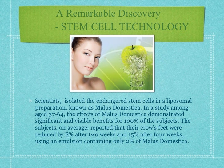 Face one apple stem cell technology from switzerland for Domestica in svizzera