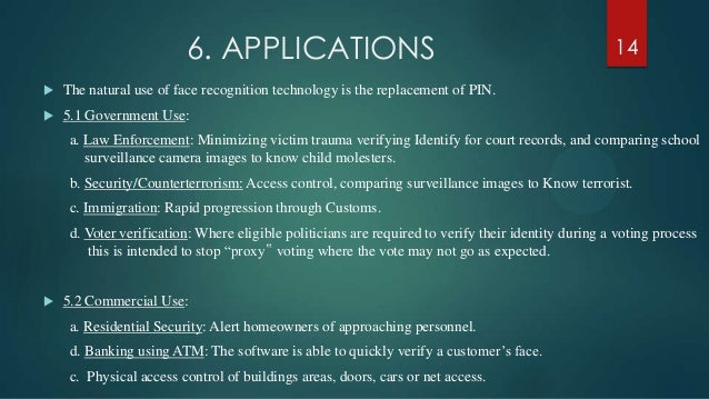 Face Recognition Technology Best Ppt