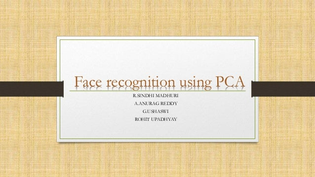 Face Recognition using PCA-Principal Component Analysis