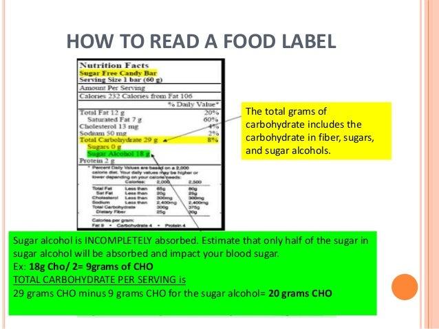 Sugar alcohols and diabetes