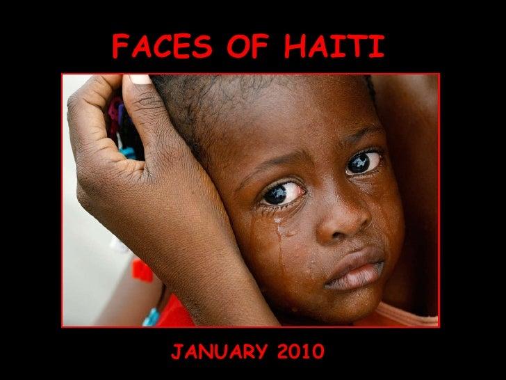 FACES OF HAITI JANUARY 2010